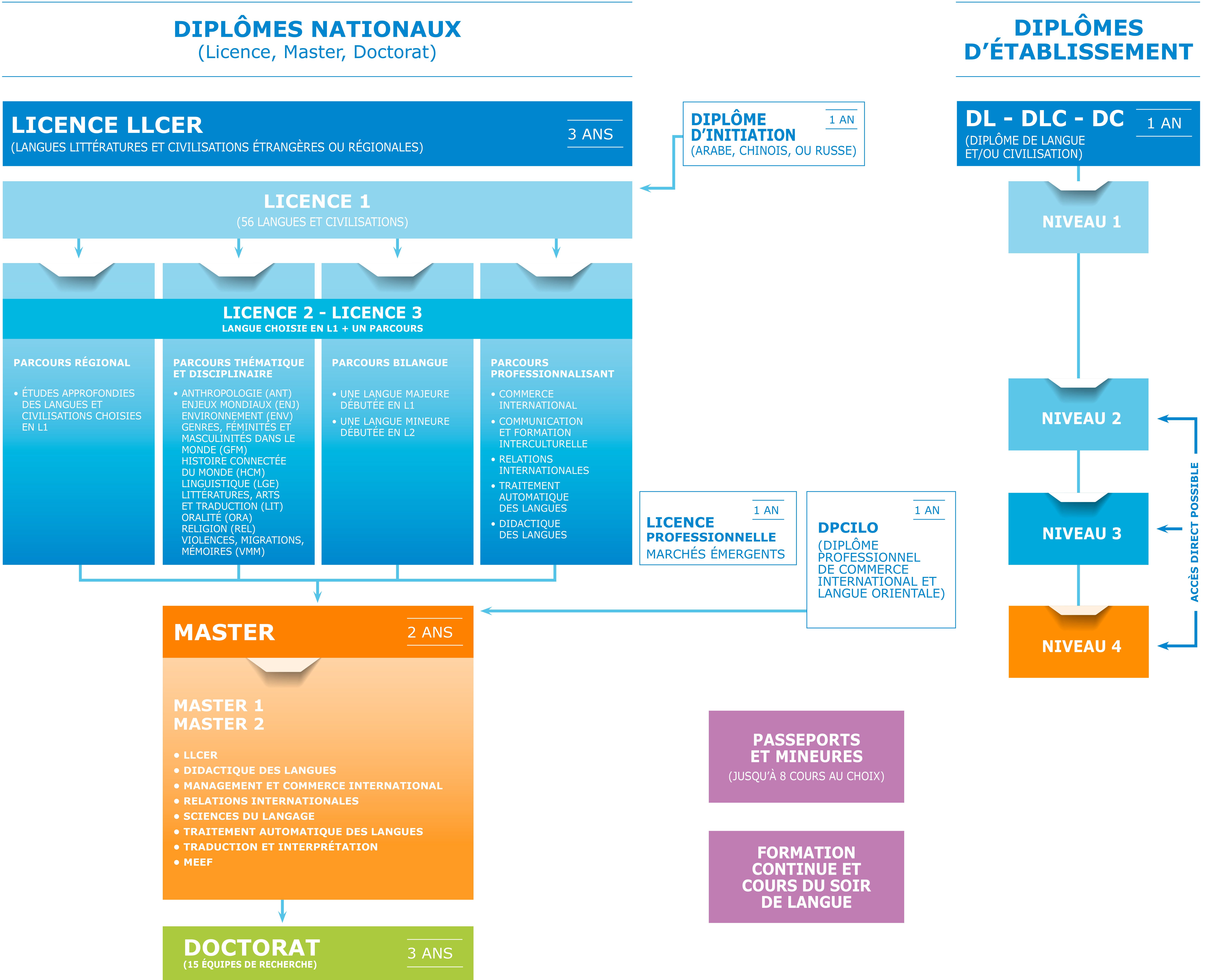 Schéma des formations 2019 de l'Inalco