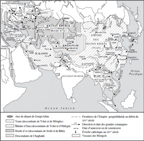 Carte des apanages mongols