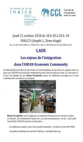 Laos : Les enjeux de l'intégration dans l'ASEAN Economic Community