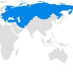 Région du monde - Europe et Eurasie