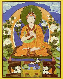 Icône de Tülku Tsullo (1884-1957), moine de l'école Nyingma du bouddhisme tibétain