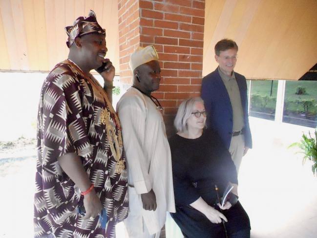 Anne Grynberg avec le Pr. Lars Berge et des collègues d'Obafemi Awolowo University