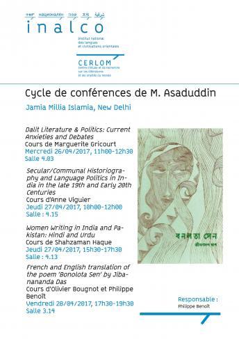 Conférences M. Asaduddin