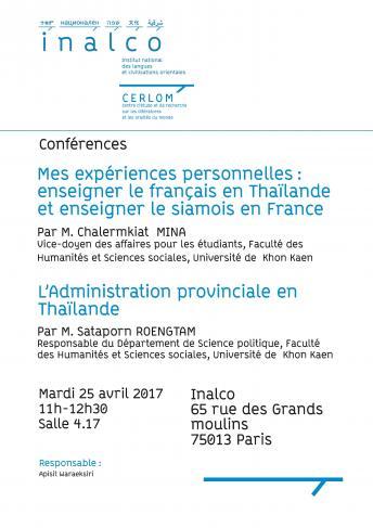 Conférences Thaïlande
