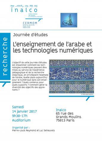 L'enseignement de l'arabe et les technologies numériques