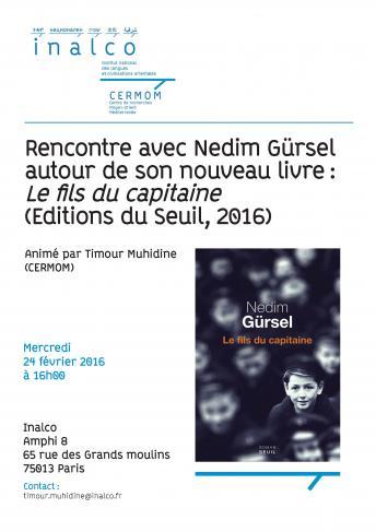 """Rencontre avec Nedim Gürsel autour de son roman """"Le fils du capitaine"""""""