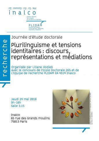 Plurilinguisme et tensions identitaires : discours, représentations et médiations