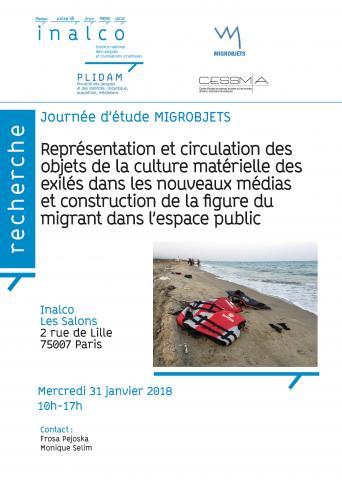 Représentation et circulation des objets de la culture matérielle des exilés dans les nouveaux médias et construction de la figure du migrant dans l'espace public