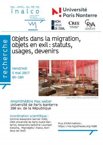 Objets dans la migration, objets en exil : statuts, usages, devenirs