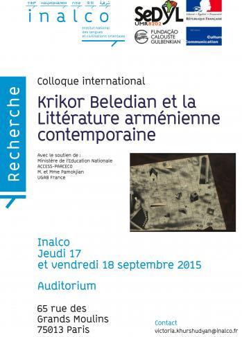 Krikor Beledian et la Littérature arménienne contemporaine (affiche)