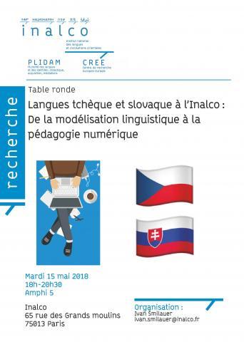 Langues tchèque et slovaque à l'Inalco : de la modélisation linguistique à la pédagogie numérique