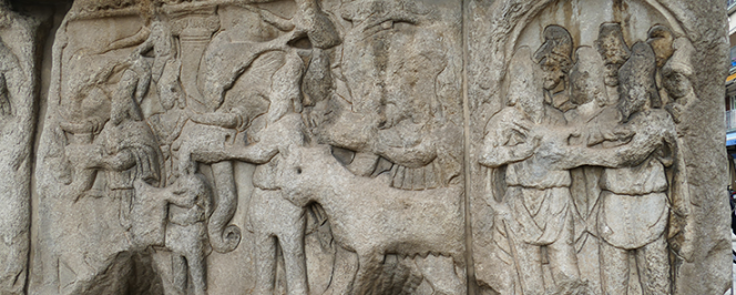 Bas-relief de l'Arc de Galère (Iran)