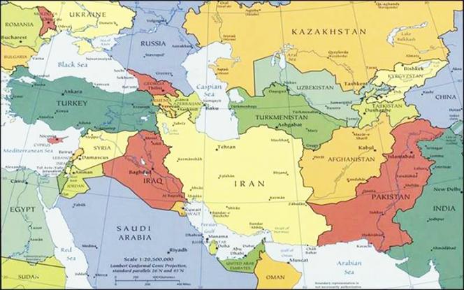 Carte de la turcophonie.