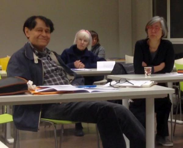 Claude Hagège parmi le public (22 novembre 2019)