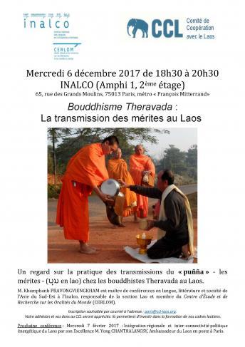 Bouddhisme Theravada : La transmission des mérites au Laos