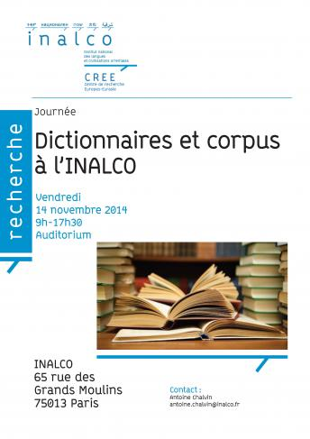Dictionnaires et corpus à l'Inalco