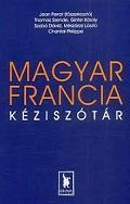 Couverture de l'ouvrage. Fond bleu, lettres orange et blanches. MAGYAR FRANCIA KEZISZOTAR