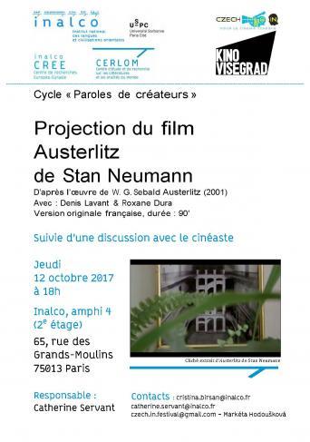 """Cycle """"Paroles de créateurs"""" - Projection du film """"Austerlitz"""" de Stan Neumann"""