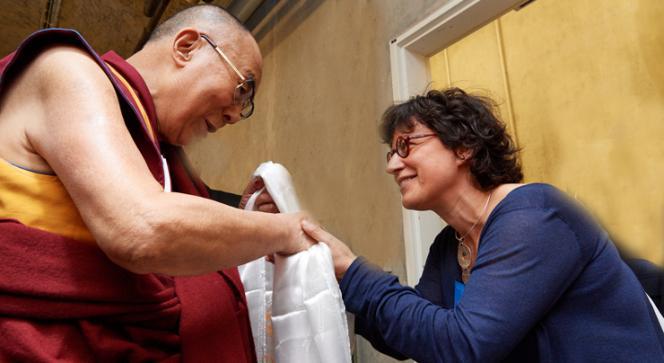 Le Dalaï-lama et Françoise Robin