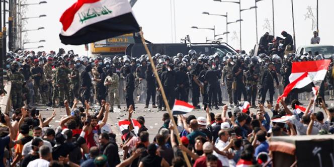 Manifestation à Bagdad, Irak