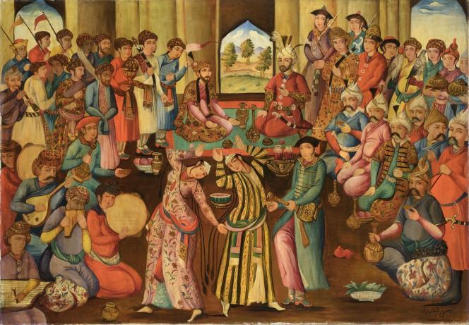 Scène de danse - peinture orientale
