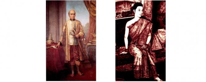 Le roi Rama II et sa reine Sri Suriyendra
