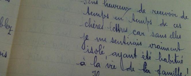 Extrait d'une lettre manuscrite d'un poilu malgache