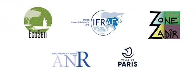 Montage de logos (Ecosen, Zone zadir, ANR, Ville de Paris, IFRAE)