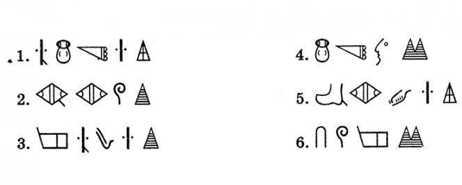 6 inscriptions en écriture du royaume Hittite