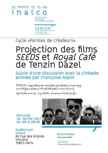 Cycle «Paroles de créateurs» - Projection des films « SEEDS » et « Royal Café » de Tenzin Dazel