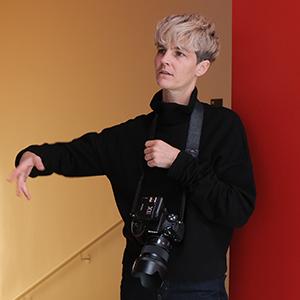 Pauline Fournier lors d'un shooting en février 2020