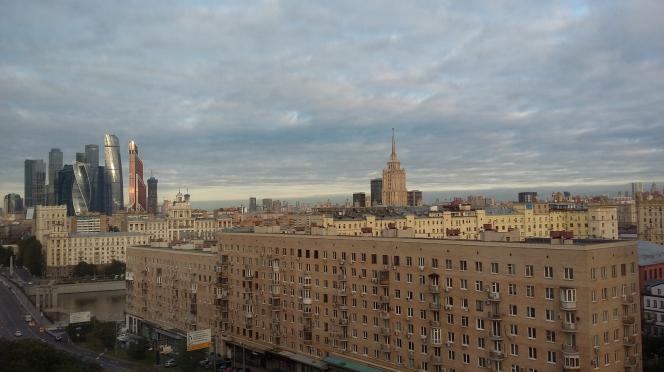 Photo d'immeubles et de tours à Moscou