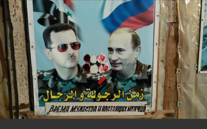 Bachar el-Assad, Poutine et bouquet de roses