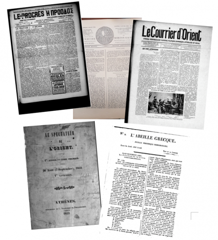 Une de journaux francophones