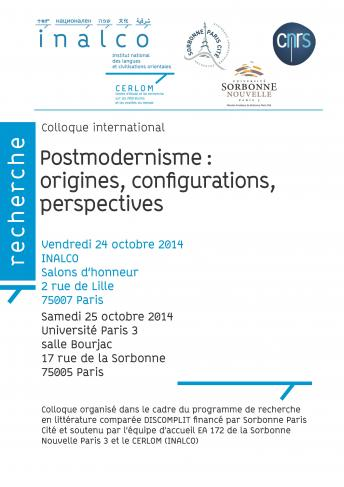 Postmodernisme : origines, configurations, pespectives