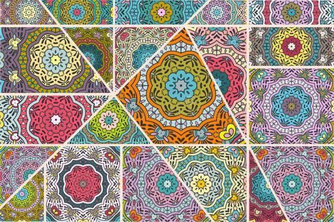 Patchwork de motifs géométriques