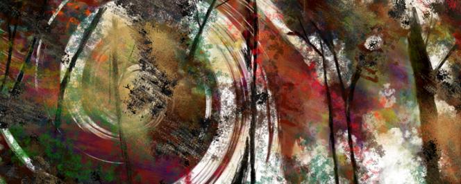 Création numérique pour Peer Gynt : pelures et pelotes ©Raphaël Verdon
