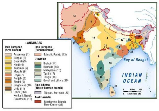 Langues d'Asie du Sud
