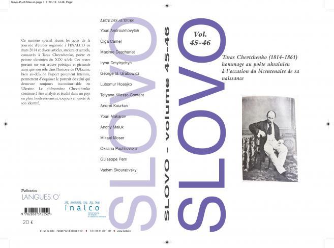 Slovo Vol. 45-46 : Taras Chevtchenko