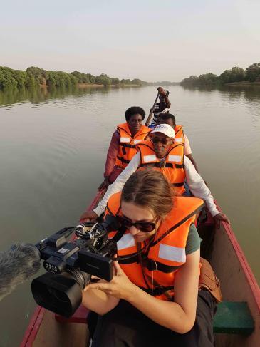 Sur le fleuve Sénégal.