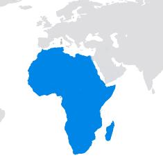 Région du monde - Afrique