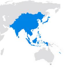 Région du monde - Asie et Pacifique