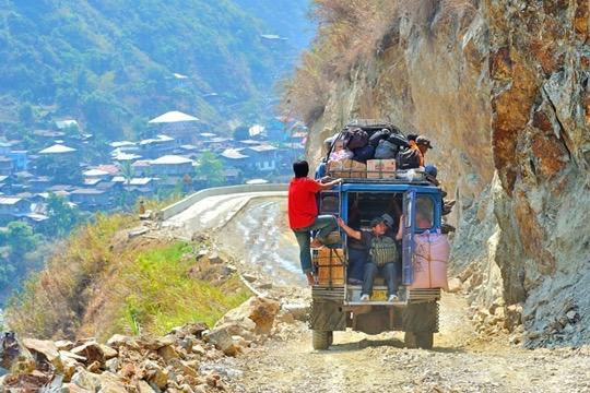 Taxi collectif en montagne