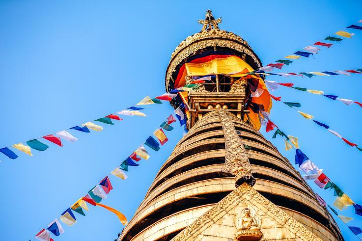 Swayambhu Maha Chaitya, Katmandou, Népal