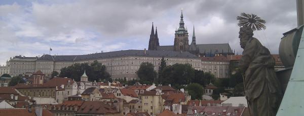 Le château de Prague vue de la tour de Saint Nicolas (1890)