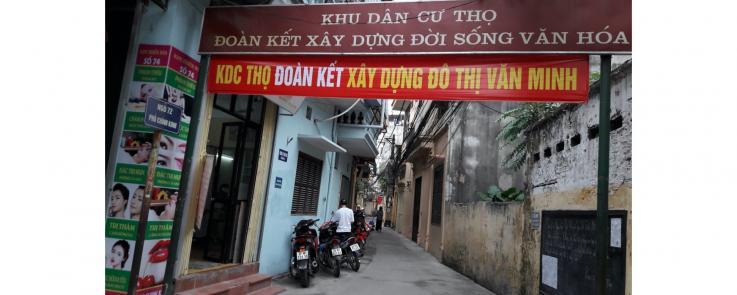 Ruelle quartier résidentielle Thọ à Hà Nội.