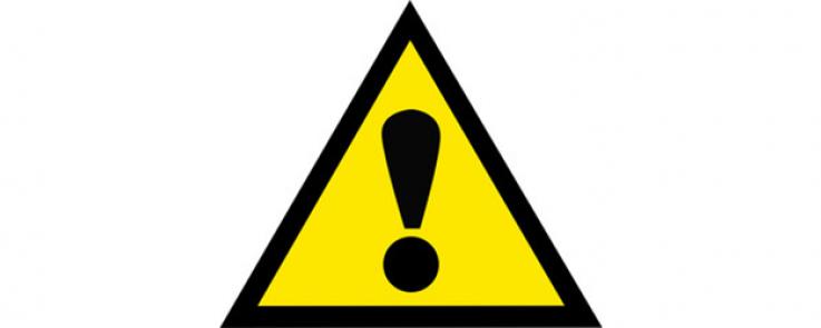 panneau triangle jaune