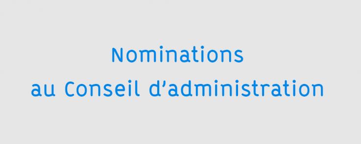 Visuel Nominations au Conseil d'administration