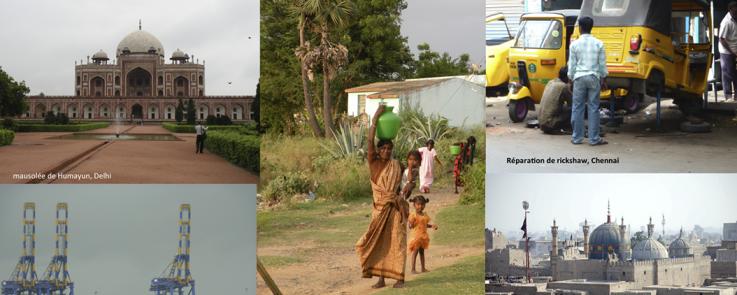 Montage de photos sur l'Asie du Sud