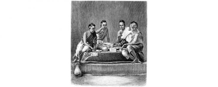 Femmes siamoises au dîner.
